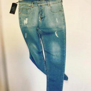 شلوار جین مردانه کثیف شور زاپ دار