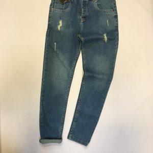 شلوار جین مردانه زارا یخی زاپ دار