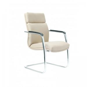 اجاره صندلی چرم کنفرانسی دسته دار سفید